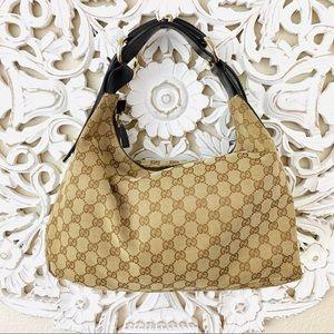 {Gucci} Authentic Medium Horsebit Hobo Bag